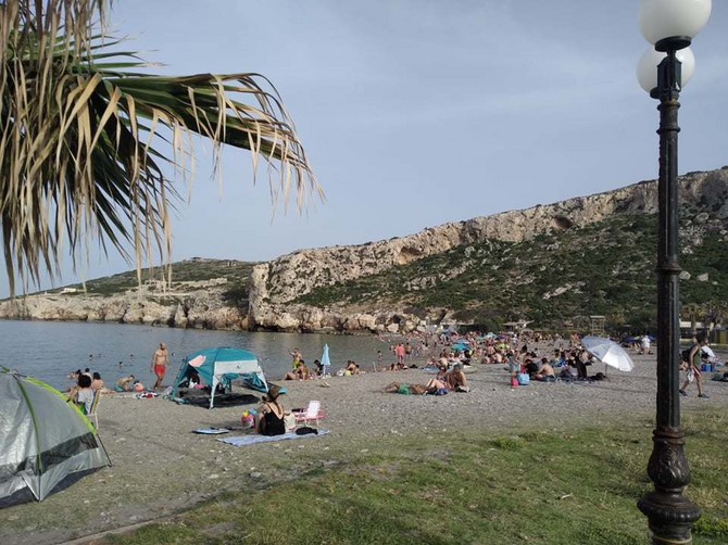 Plaža u Keartei pored Atine PROŠLE SUBOTE