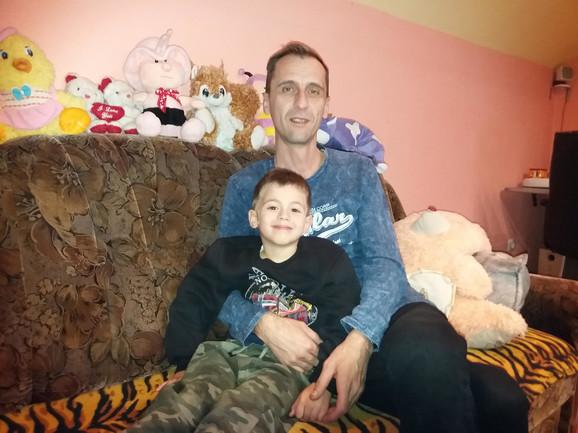 Goran Dunović sa sinom Nikolom