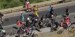 Polski kolarz trafił z wyścigu do szpitala!