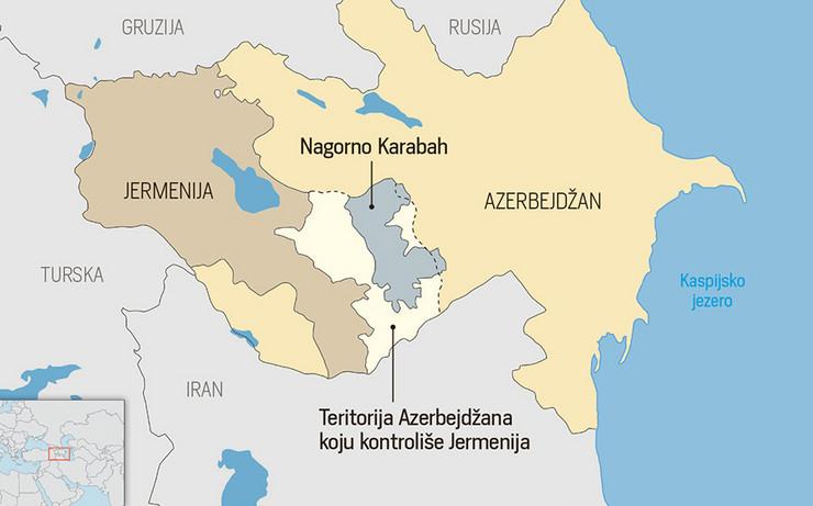 Mapa Nagorno-Karabaha