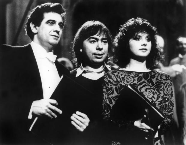 Sarah Brightman i Andrew Lloyd Webber (w środku) w 1985 roku