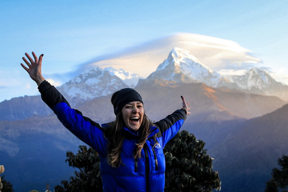 Dijana na vrhu Poon Hill, Himalaji, Nepal
