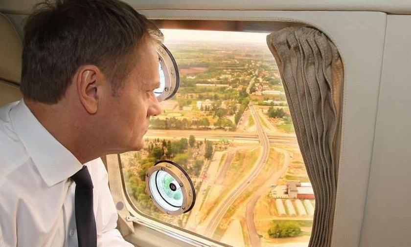 Donald Tusk wizytuje autostradę A2