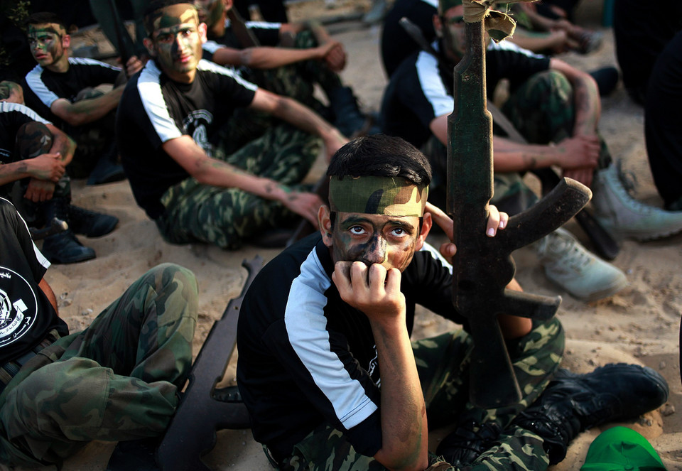 MIDEAST PALESTINIANS MILITARY (Military summer camp in the West Bank)