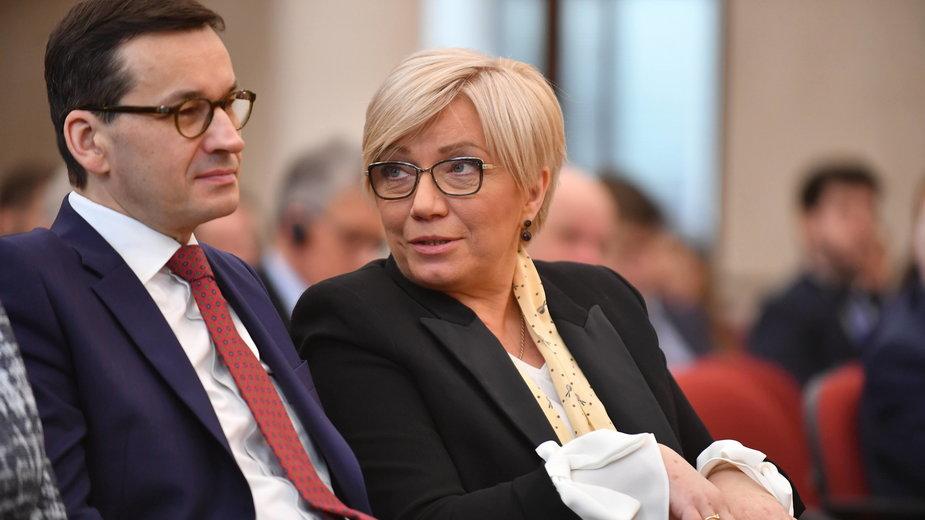 Mateusz Morawiecki i Julia Przyłębska