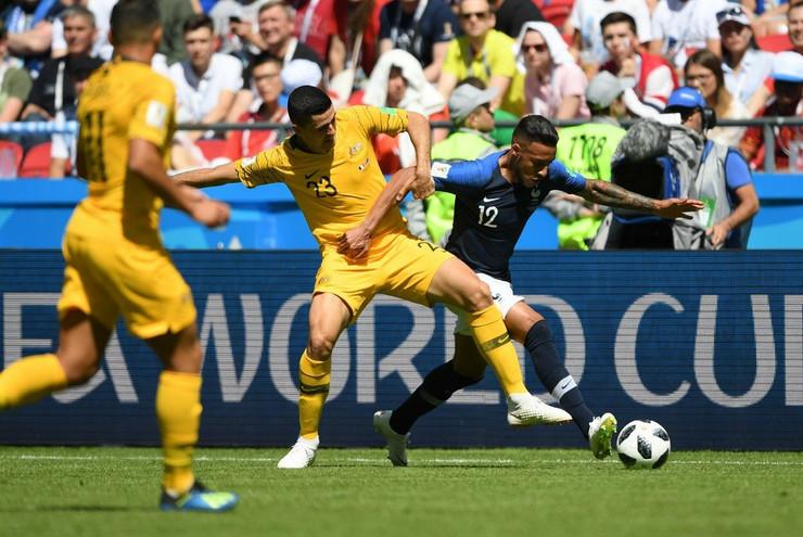 Tom Rogić na utakmici protiv Francuske trećeg dana Mundijala