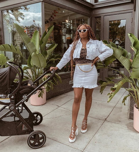 Ronke Raji shared how to lose post-pregnancy belly in just two months [Instagram/ Ronke Raji]