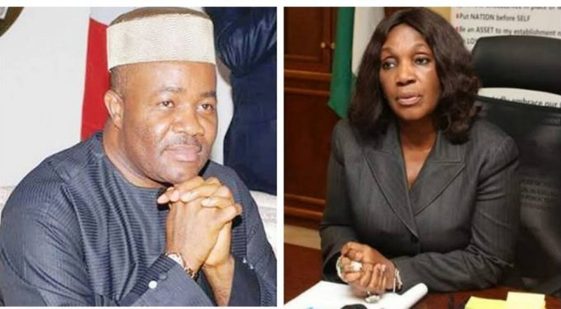 'Talk to her 4 ex-husbands', Akpabio attacks former NDDC MD as he denies pipeline bombing allegation