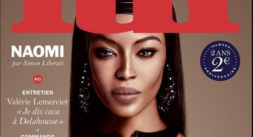 Naomi Campbell covers Lui Magazine October 2015 issue