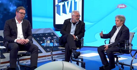 Vučić, Nestorović i Marić