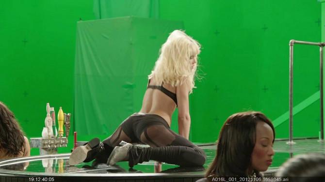 Džesika Alba na snimanju filma Sin City