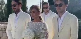 Przetakiewicz pokazała wideo ze ślubu. Wtedy weszli, cali na biało