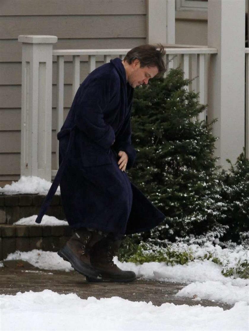 Matt Damon chodził w szlafroku po osiedlu