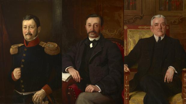 Kazimierz, Bogusław i Kazimierz (wnuk) Janota Bzowscy