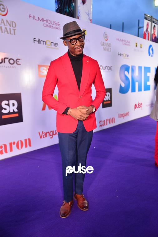 You can't ignore Frank Donga's signature look at 'She Is' movie premiere [PULSE]