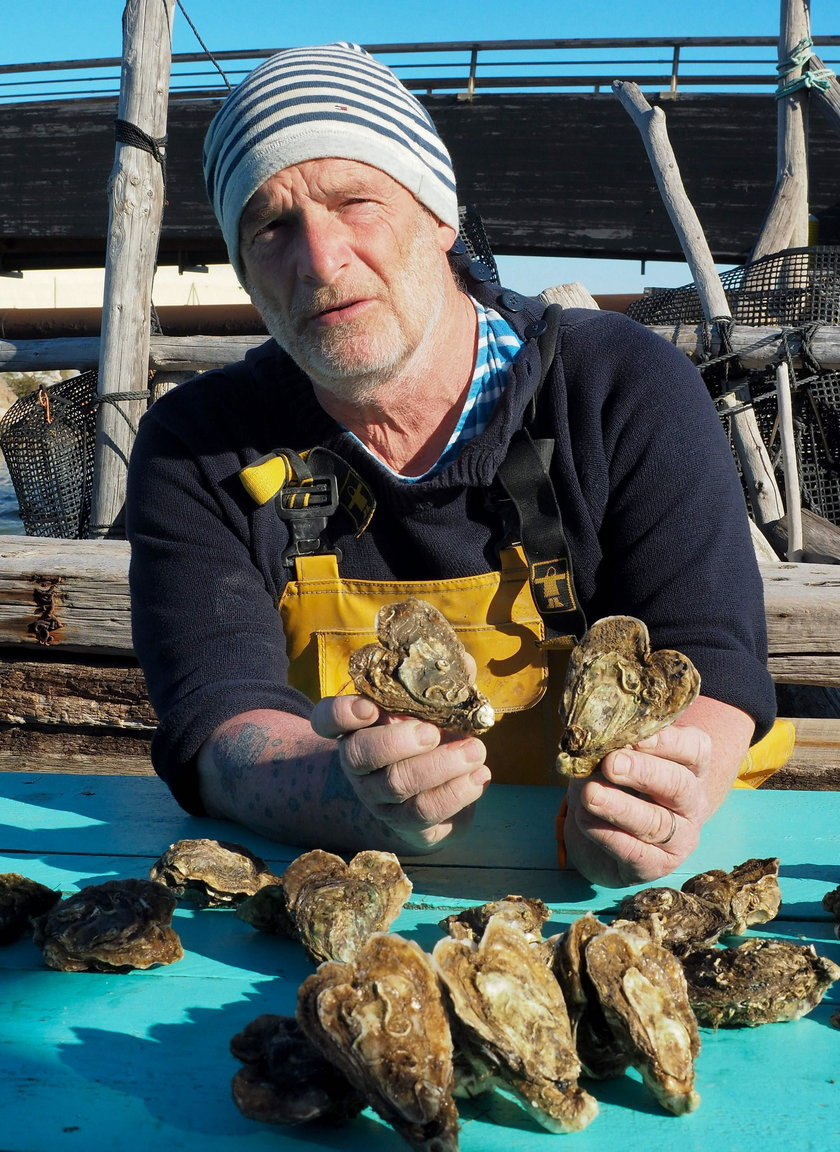 Francuz Christophe Guinaut i jego ostrygi w kształcie serca