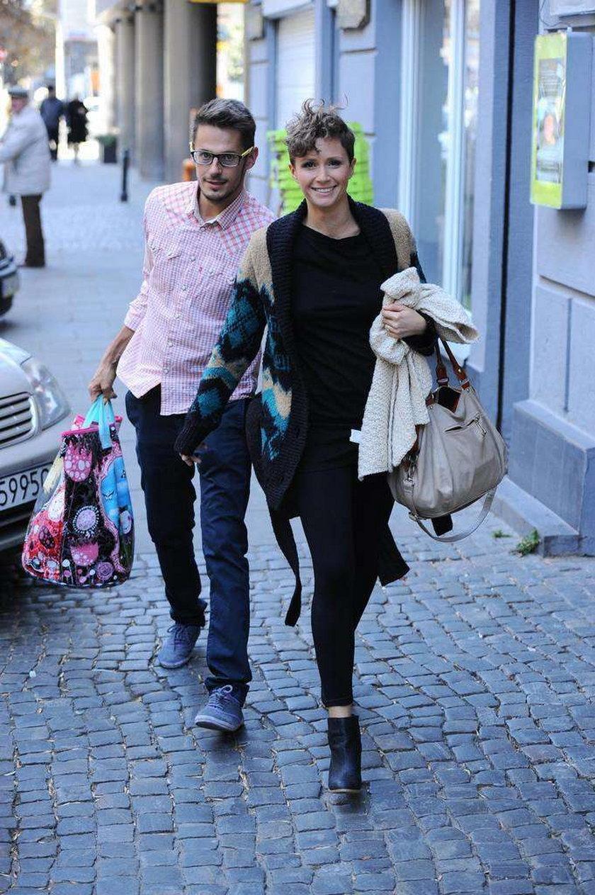 Monika Mrozowska z byłym mężem