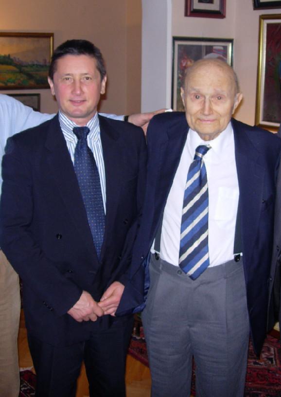 Prof. Žorž Mate i prof. Vladimir Kovčin