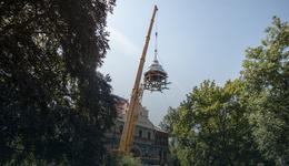 Rektorat PŁ odzyskał spalony w pożarze dach
