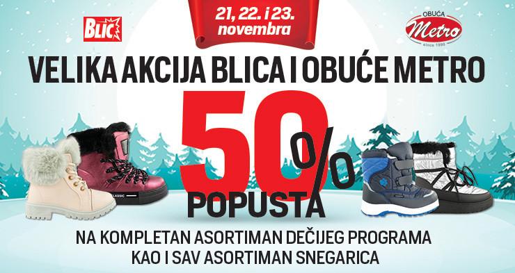 Metro i Blic nagražuju sa 50 odsto popusta