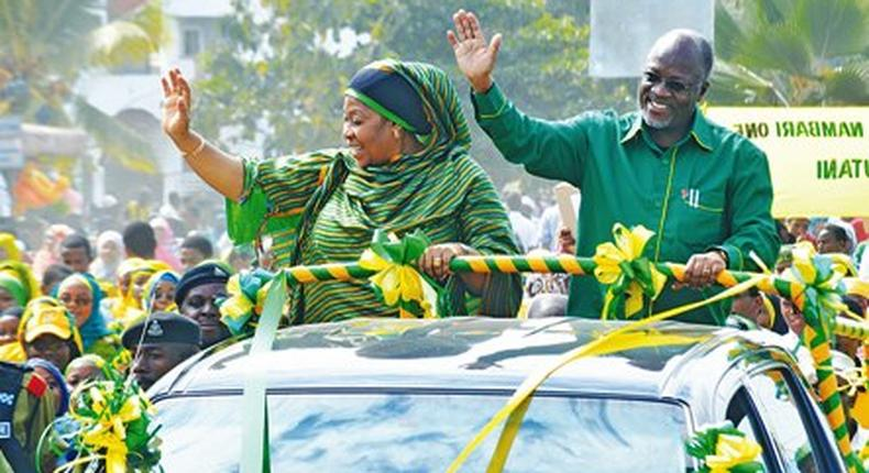 Magufuli and his wife Janet