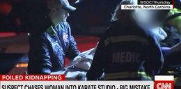 Bandyta gonił ofiarę aż do klubu karate. To był gruby błąd