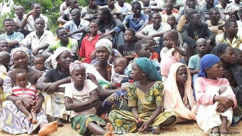Some displaced people in an IDP camp