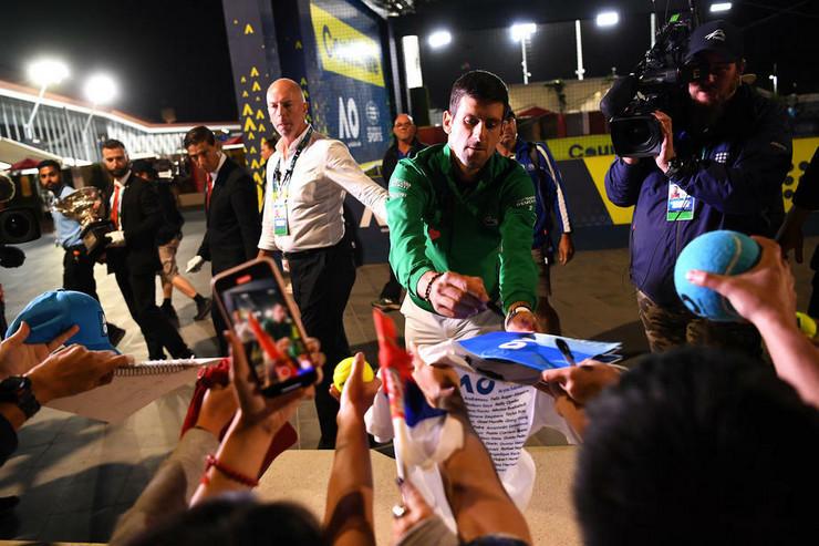 Novak Đoković nakon osvajanja osme titule šampiona Australijan opena