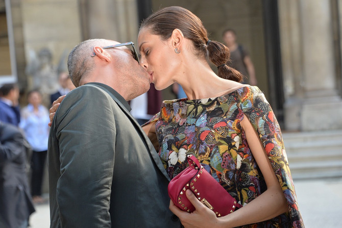 Eros Ramacoti i Marika Pelegrini  2014. u Parizu