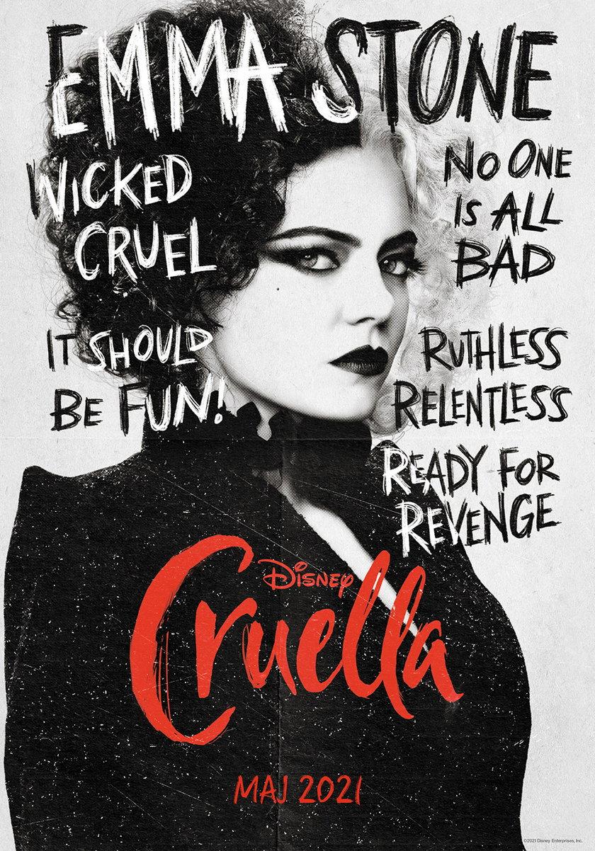 """""""Cruella""""  - plakat filmu"""