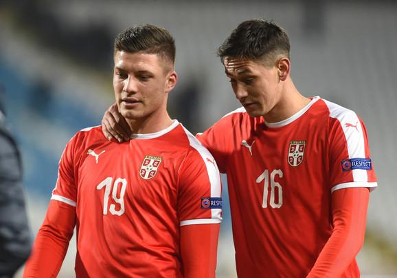 Luka Jović i Saša Lukić u dresu A reprezentacije