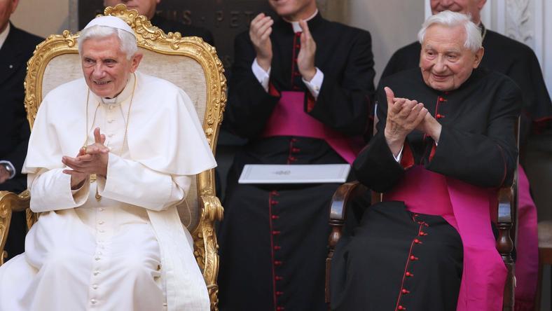 Benedykt XVI i ks. Georg Ratzinger