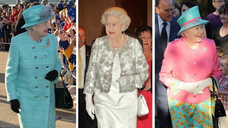 Kreacje królowej Elżbiety II podczas wizyty w Australii