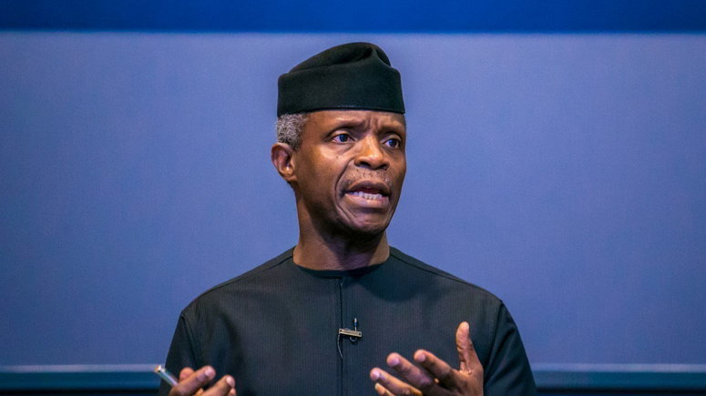 Vice President Yemi Osinbajo says he finds memes about him creative and funny [Twitter/@Channels]