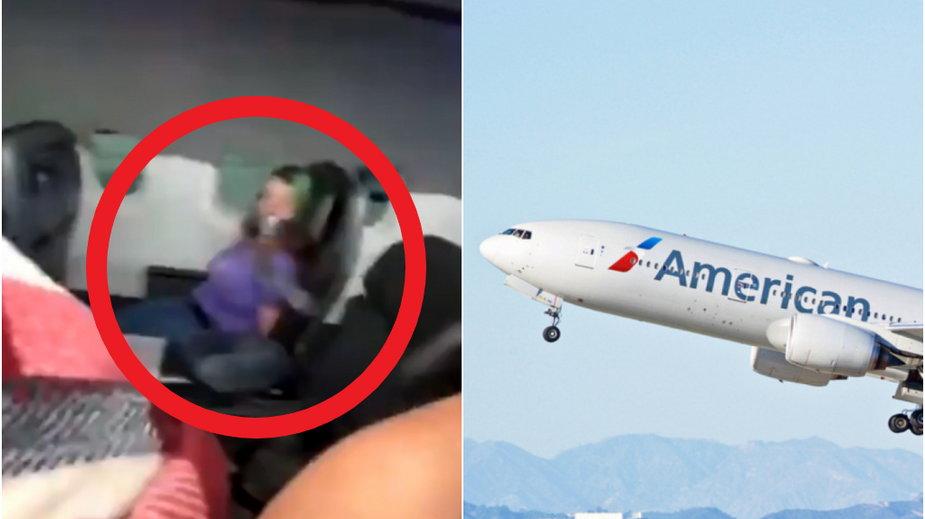 Przywiązali pasażerkę do fotela