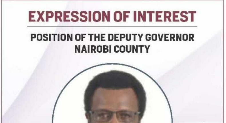 Nairobi voter Philip Sogoti advertises on Daily Nation to be Governor Mike Sonko's deputy