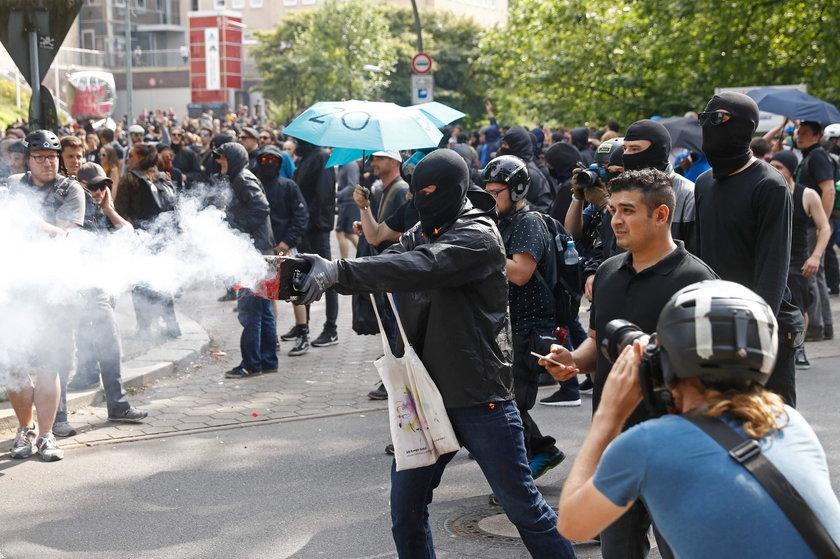Wojna na ulicach Hamburga. Melania Trump uwięziona w hotelu