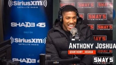 World heavyweight champion Anthony Joshua drops a freestyle on American radio show Sway in the Morning