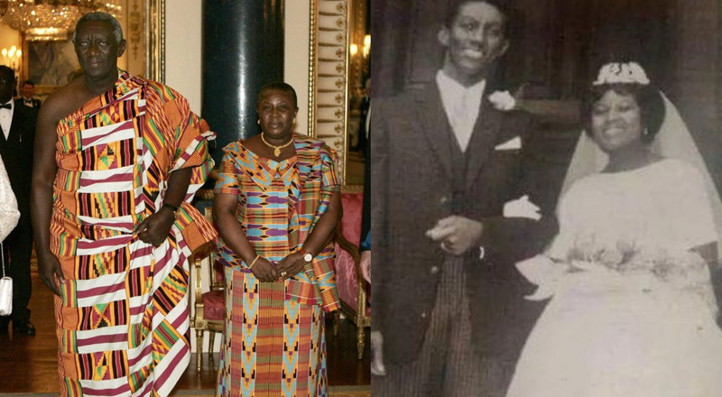 Here's a rare wedding photo of ex-president John Kufuor and Theresa Kufuor