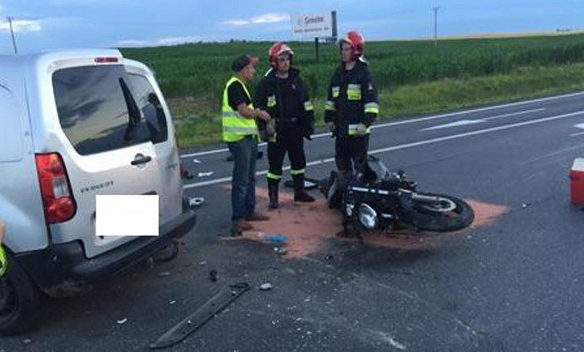 Tragiczny wypadek motocyklisty w Sędziszowie Małopolskim