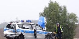 Radiowóz staranował motocyklistów pod Ostródą. Relacja świadka
