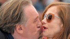 Gerard Depardieu próbuje pocałować aktorkę Isabelle Huppert