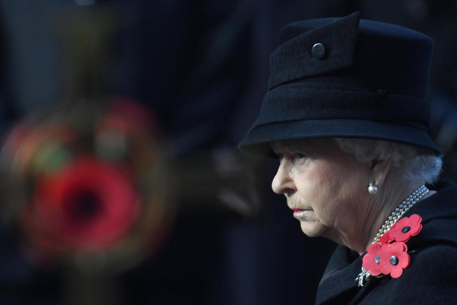 FILE PHOTO : Britain's Queen Elizabeth takes part in the Remembrance Sunday ceremony at the Cenotaph