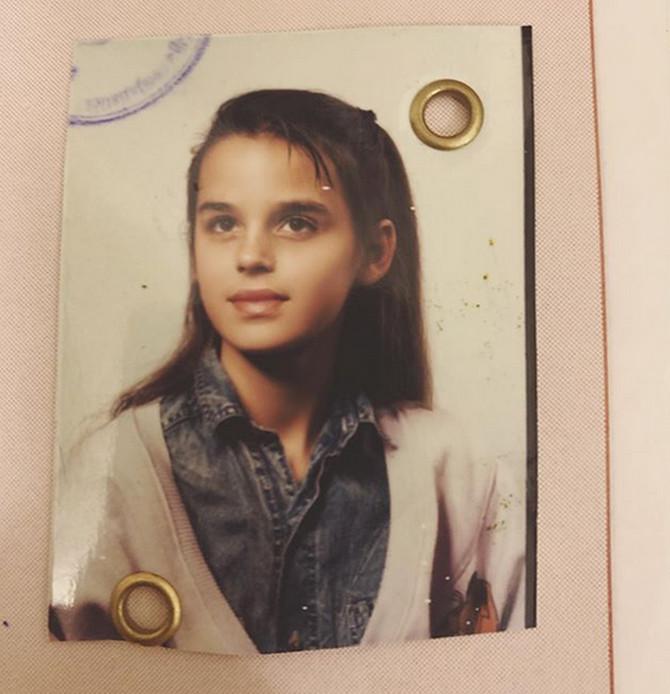 Nina Morić kao devojčica