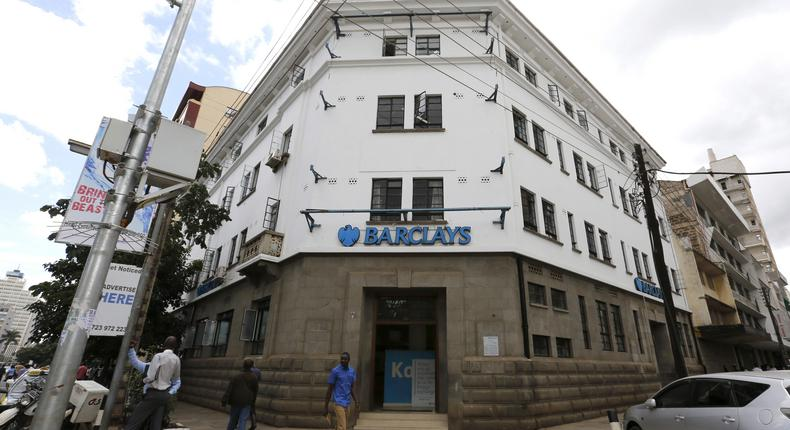 One of  Barclays Bank of Kenya branches in Nairobi.