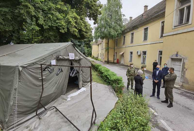 Vojnomedicinski centar Novi Sad, kovid bolnica