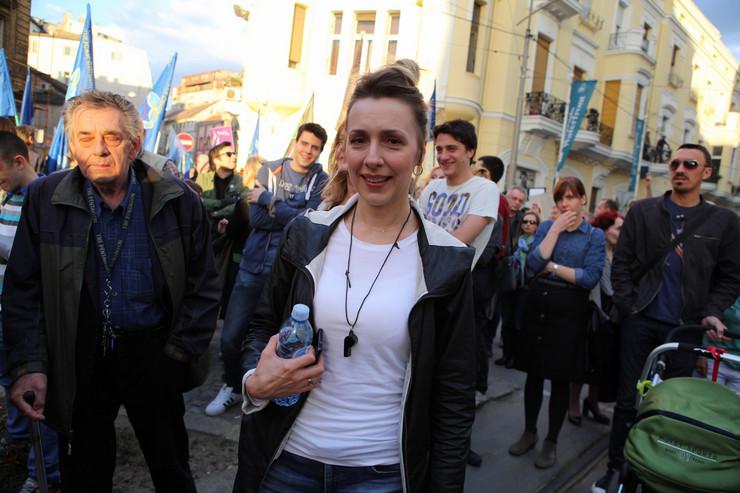 Protest u Savamali Nataša Jeremić