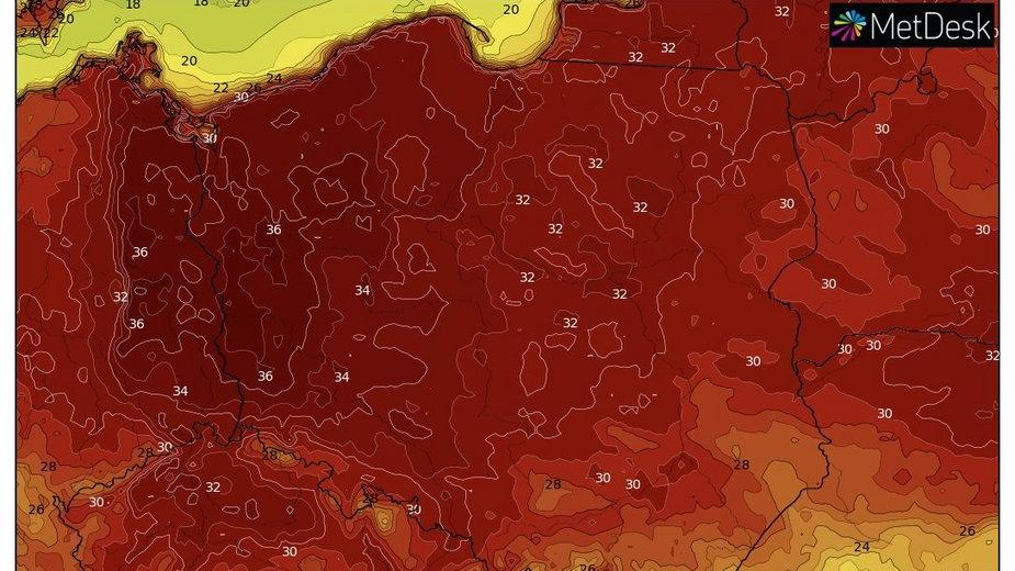 Upały nacierają na Polskę