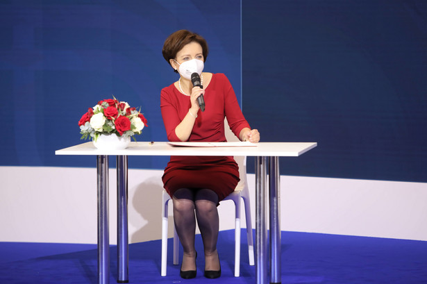 Minister rodziny i polityki społecznej Marlena Maląg