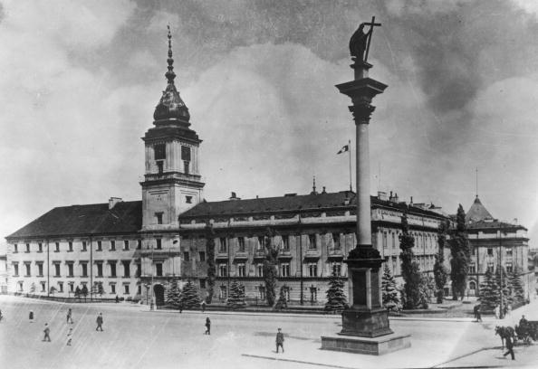 Warszawa, Zamek Królewski, ok. 1920 r.